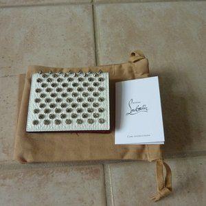 Christian Louboutin 'Palatin' Leather Spike Wallet